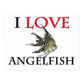 I Love Angelfish Postcard