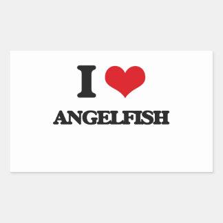 I love Angelfish Rectangle Stickers