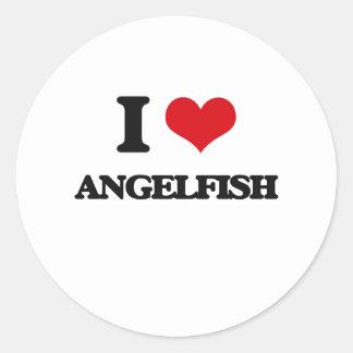 I love Angelfish Round Sticker