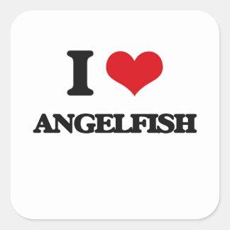 I love Angelfish Square Sticker
