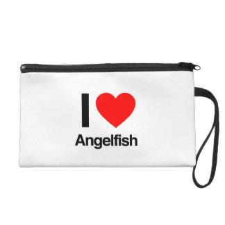 i love angelfish wristlet