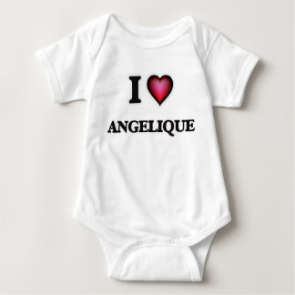 I Love Angelique Baby Bodysuit