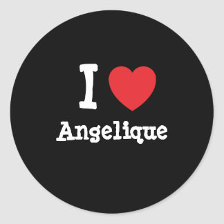 I love Angelique heart T-Shirt Stickers