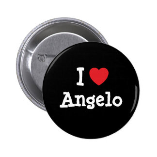I love Angelo heart custom personalized 2 Inch Round Button
