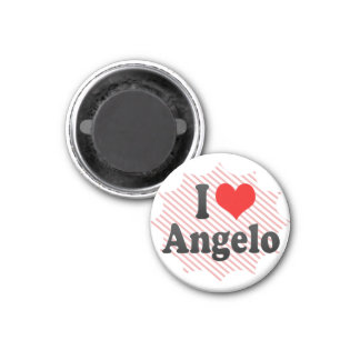 I love Angelo 1 Inch Round Magnet