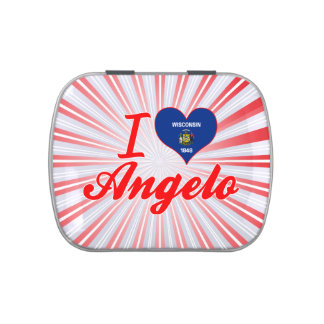 I Love Angelo, Wisconsin Jelly Belly Candy Tin