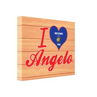 I Love Angelo, Wisconsin Canvas Print