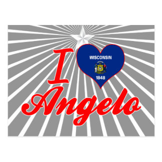 I Love Angelo, Wisconsin Postcard