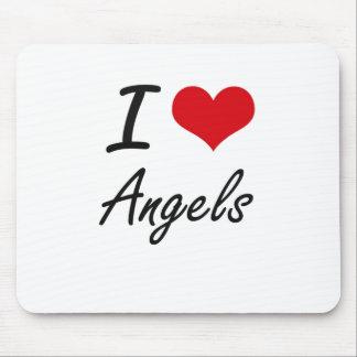 I Love Angels Artistic Design Mouse Pad