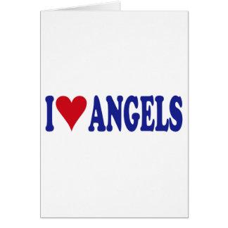 I Love Angels Greeting Card