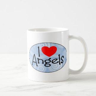 I Love Angels Classic White Coffee Mug