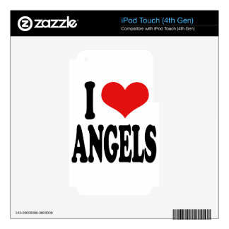 I Love Angels iPod Touch 4G Skin