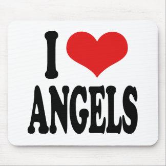 I Love Angels Mouse Pad