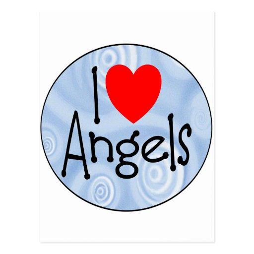 I Love Angels Postcard