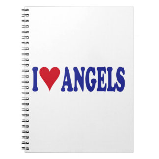 I Love Angels Spiral Notebook