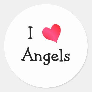 I Love Angels Sticker