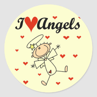 I Love Angels Stickers