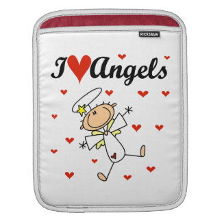 I Love Angels T-shirts and Gifts iPad Sleeve