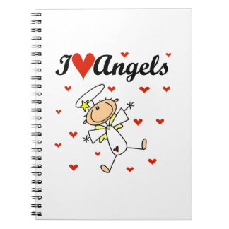 I Love Angels T-shirts and Gifts Spiral Notebooks