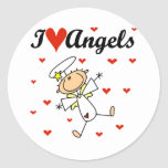 I Love Angels T-shirts and Gifts Round Sticker
