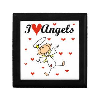 I Love Angels T-shirts and Gifts Trinket Box