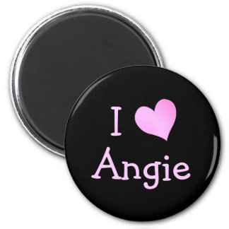 I Love Angie 2 Inch Round Magnet