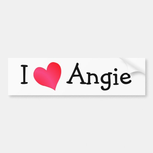 I Love Angie Car Bumper Sticker