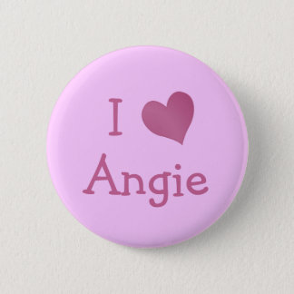 I Love Angie Pinback Button