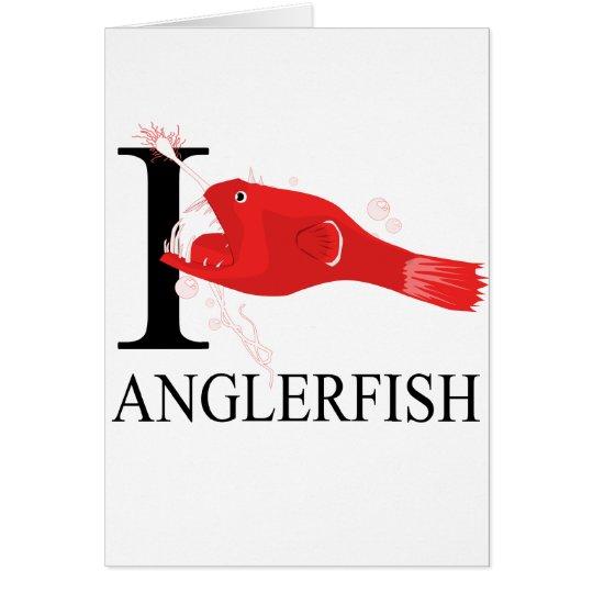 I Love Anglerfish Card