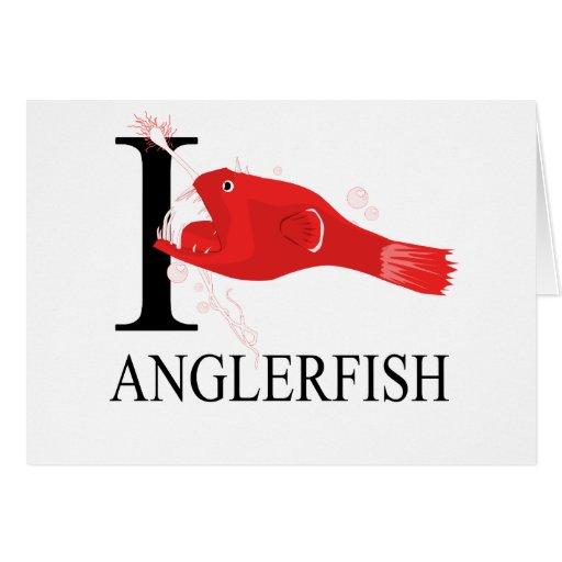 I Love Anglerfish Greeting Card