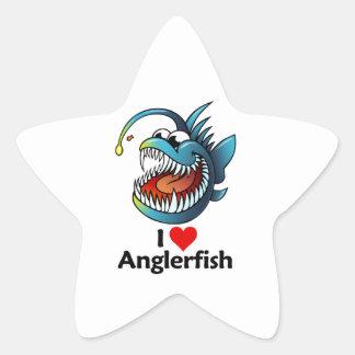 I Love Anglerfish Stickers