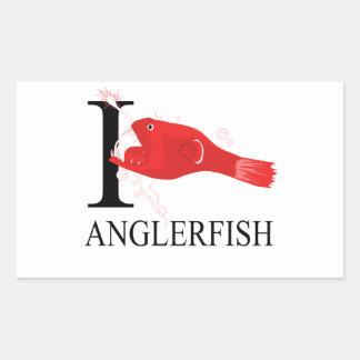 I Love Anglerfish Rectangle Sticker