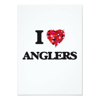 I Love Anglers 5x7 Paper Invitation Card
