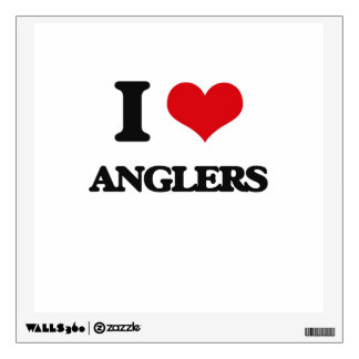 I Love Anglers Wall Skins