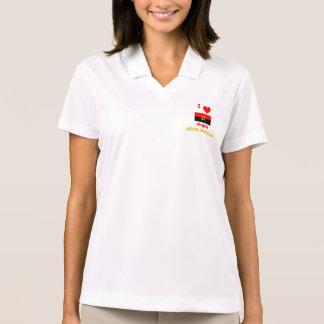 I Love Angola, Africa Must Unite Polo T-shirt
