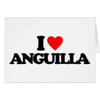 I LOVE ANGUILLA GREETING CARD