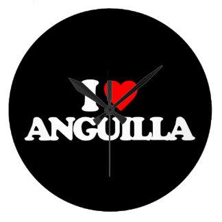 I LOVE ANGUILLA WALL CLOCK