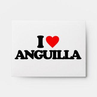 I LOVE ANGUILLA ENVELOPES