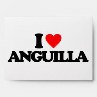 I LOVE ANGUILLA ENVELOPE