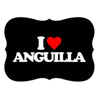 """I LOVE ANGUILLA 5"""" X 7"""" INVITATION CARD"""