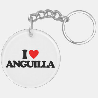 I LOVE ANGUILLA ACRYLIC KEYCHAINS