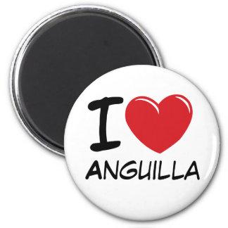 I Love Anguilla 2 Inch Round Magnet