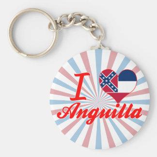 I Love Anguilla, Mississippi Key Chains