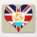I Love Anguilla Mouse Pad