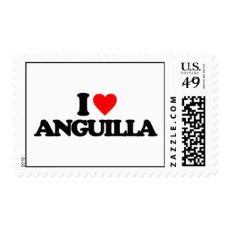 I LOVE ANGUILLA STAMP
