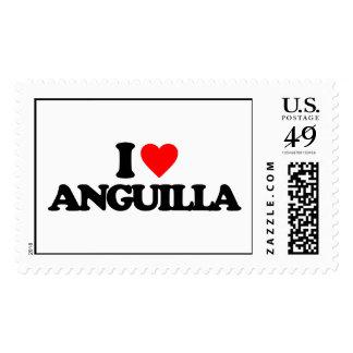 I LOVE ANGUILLA POSTAGE STAMPS