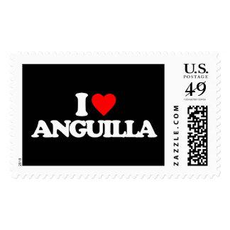 I LOVE ANGUILLA STAMPS