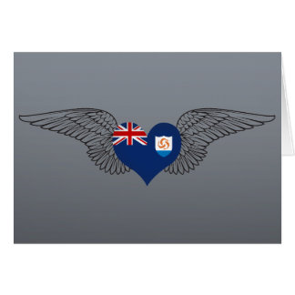 I Love Anguilla -wings Cards