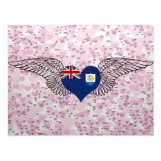 I Love Anguilla -wings Postcard