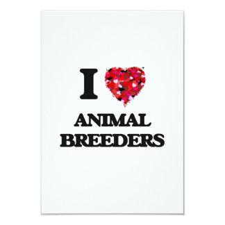 I love Animal Breeders 3.5x5 Paper Invitation Card